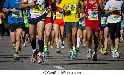 maratón, mitad