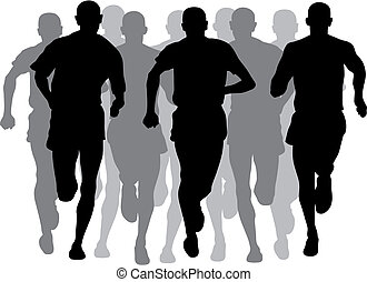 Marathon - Abstract vector illustration of marathon event