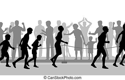 Marathon encouragement
