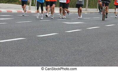 Marathon for runners-lovers
