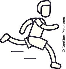 Marathon line icon concept. Marathon vector linear illustration, symbol, sign