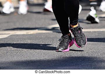 marathon, racer