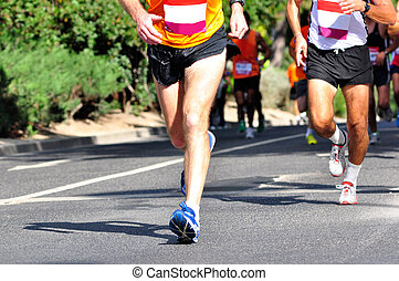 marathon, rennfahrer