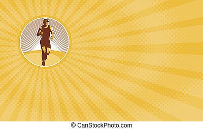 Marathon Runner Business card