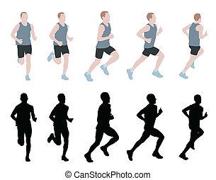 marathon runner - vector
