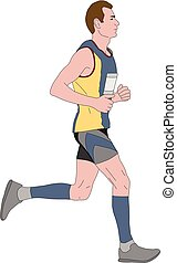 marathon runner illustration