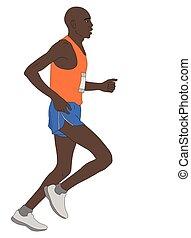 marathon runner illustration