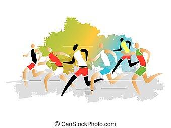 Marathon Runner race
