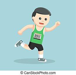 marathon runner running color