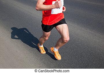 Marathon runner running