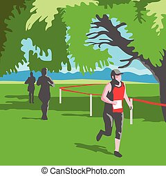 Marathon Runner Running WPA