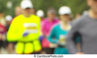 Marathon Runners soft focus - Soft focus shot of marathon...