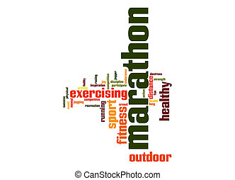 Marathon word cloud