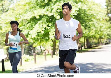 maratoni futás, atléta