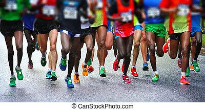 maratonlopp gångmatta
