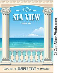 maravilhoso, vista mar