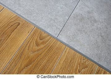 Marble and hardwood floor