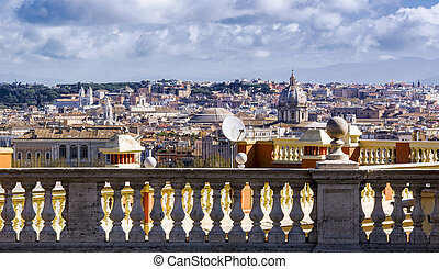 marble balustrade in Rome