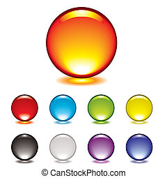 marble button glow - round gel button icon with glow and...