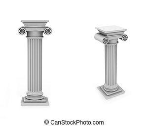 Marble columns frontal and diagonal - Frontal and diagonal...