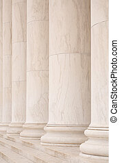 Marble columns with marble steps, ideal for classic...