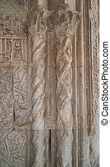 Marble decor on Caravanserai Sultan Han gates