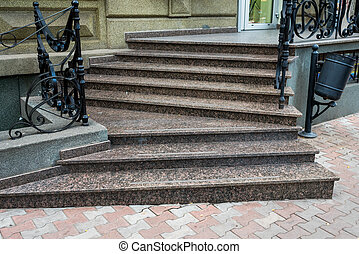 marble entrance staircase