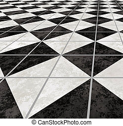 marble floor - large image of checkered marble floor going...