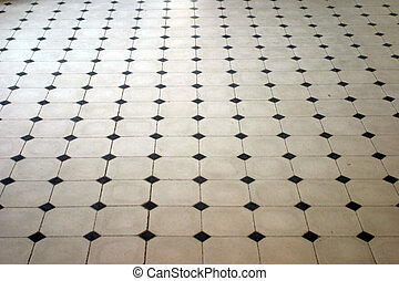 Marble floor - Stone floor pattern in perspective.