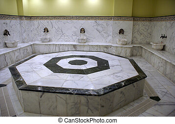 Marble hamam - Marble turkish bath hamam inside...