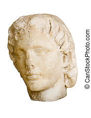 Marble head of Alexander the Great ( 356 - 323 BC ). King of Macedonia ( 336 - 323 BC )