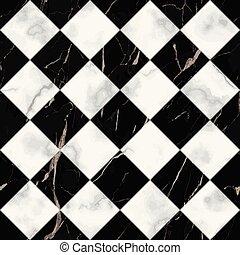 Marble Luxury Check Diagonal Seamless Pattern