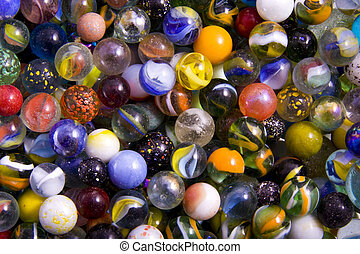 Marble madness - Lots of marbles with different colours for ...