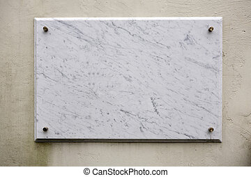 Marble plate - Empty marble plate on a painted wall