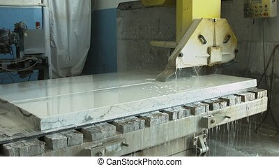 Marble process - The process of cutting marble in the...