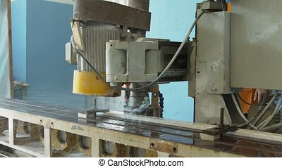 Marble process - Marble on the polishing line