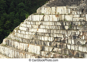 marble quarry in cut stairs