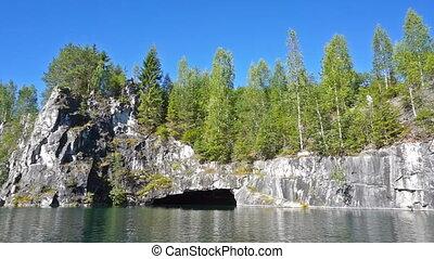 Marble quarry in Ruskeala, Karelia, Russia