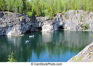 Marble quarry in Ruskeala