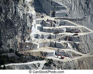 marble quarry - marble quarry in carrara italy...