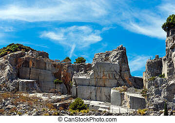 Marble Quarry - Palmaria island Italy - Marble quarry...