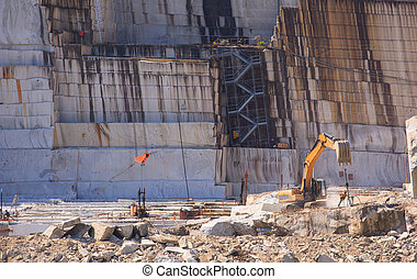 Marble quarry - View of marble quarry in Verbania, Piemonte...
