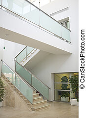 Marble stairs in a modern building