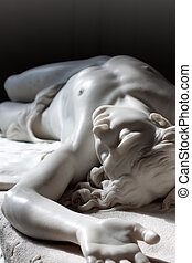 Marble statue of Abel from Bible. Hermitage in st. Petersburg, Russia
