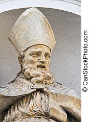 Marble statue. St. Lucia Church. Parma. Emilia-Romagna. Italy.