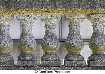 Marble Stone Balustrade Closeup