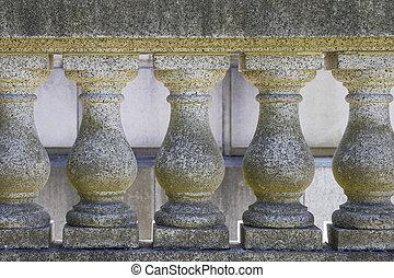 Marble Stone Balustrade Closeup