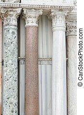 Marble stone columns detail