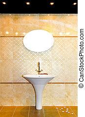 Marble tiles toilet