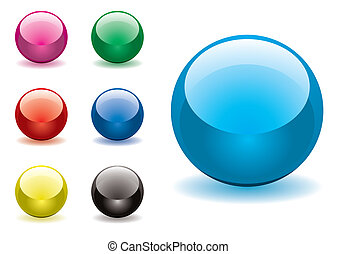marble variation rnd - Collection of seven round gel filled...